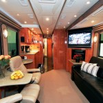 Busses custom converted into motorhomes