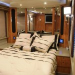 master suite in the rear of the coach
